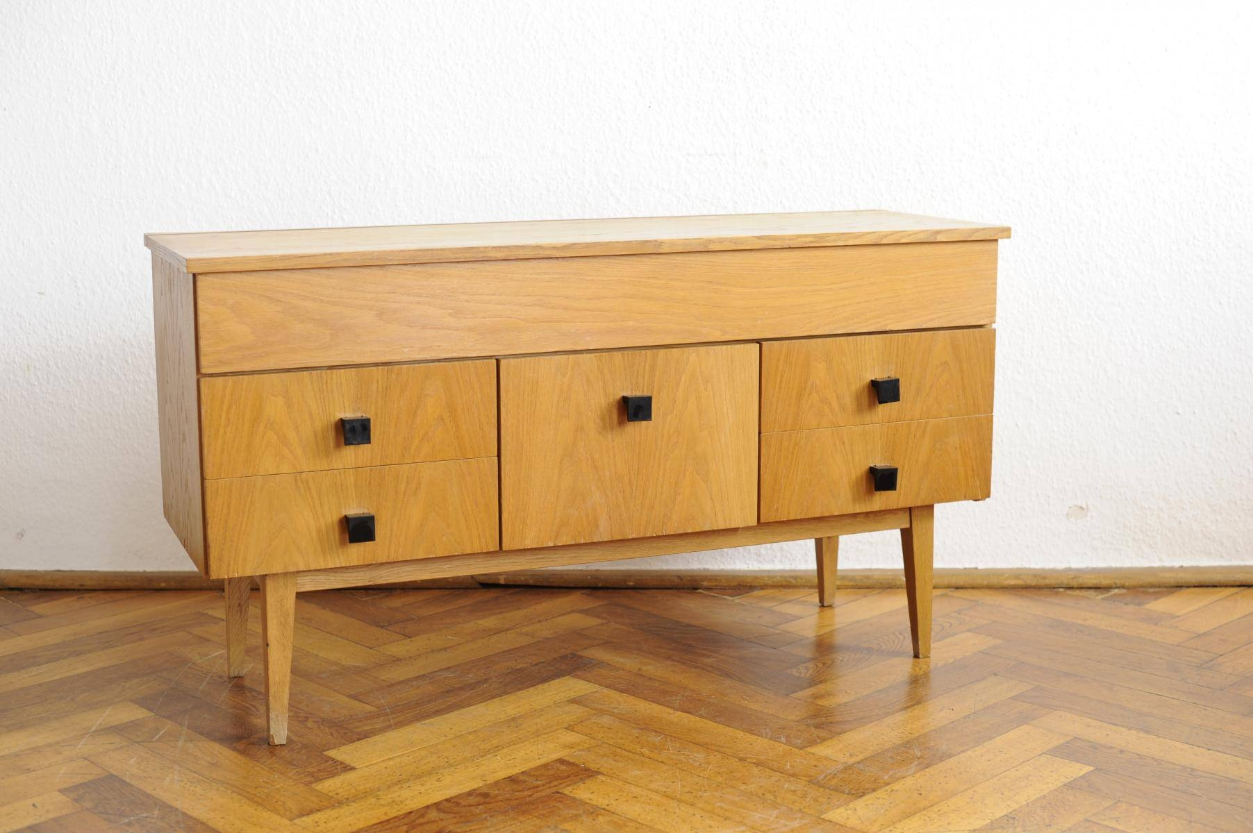 Vintage Modernist Sideboard With Beech Veneer For Sale At Pamono Pertaining To Beech Sideboards (#19 of 20)