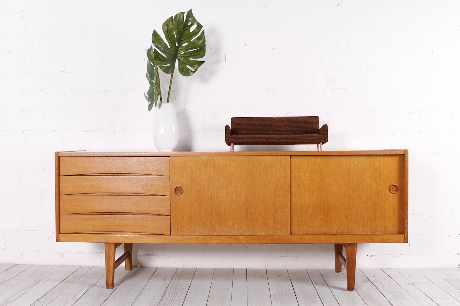 Vintage Oak Sideboard, 1950s For Sale At Pamono For Oak Sideboard For Sale (View 3 of 20)