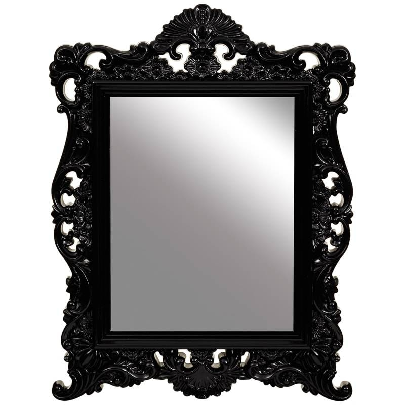 20 Ideas Of Ornate Black Mirrors