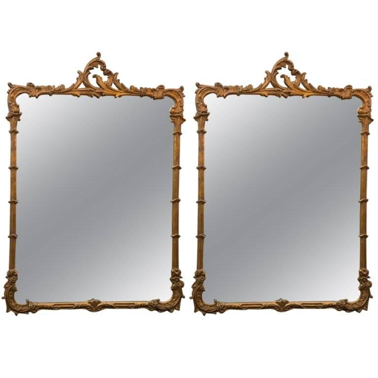 Inspiration about Vintage Pair Of 1940's Gilt French Style Mirrors At 1Stdibs With Regard To French Style Mirrors (#30 of 30)