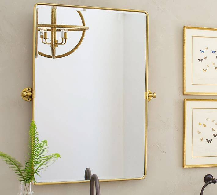 Vintage Pivot Mirror | Pottery Barn Within Brass Mirrors (#15 of 15)