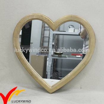 Vintage Plain Wood Heart Shaped Mirrors For Wall Decor – Buy Pertaining To Heart Shaped Mirrors For Walls (View 26 of 30)