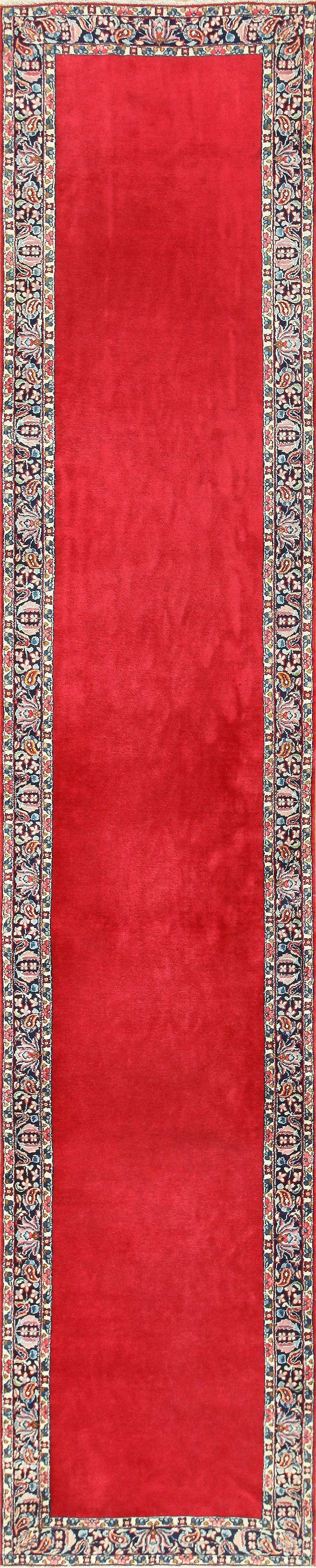 Vintage Red Color Persian Floral Kerman Runner Rug 50349 Nazmiyal Pertaining To Red Runner Rugs For Hallway (#20 of 20)