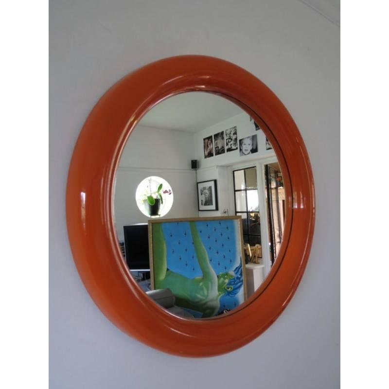 Inspiration about Vintage Retro Round Circular Orange Wall Mirror 53Cm Diameter With Retro Wall Mirrors (#5 of 20)