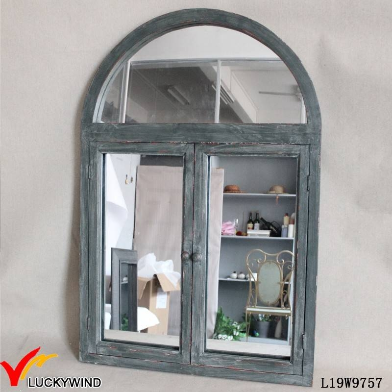 Inspiration about Vintage Style Antique Arched Window Mirror – Buy French Style Regarding Window Shutter Mirrors (#5 of 30)