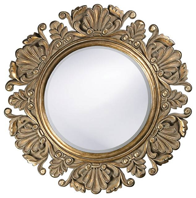 Vintage Style Round Framed Mirror – Victorian – Wall Mirrors Regarding Vintage Looking Mirrors (View 9 of 20)