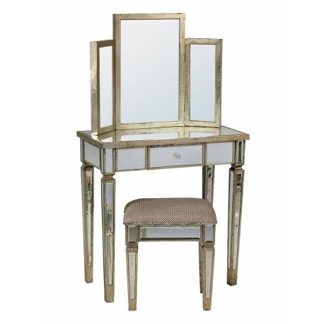Inspiration about Vintage Venetian Mirror Wooden Edge Dressing Table Set With Venetian Dressing Table Mirrors (#17 of 30)