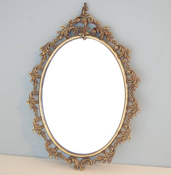 Inspiration about Vintage Wall Mirror – Wall Art Design With Old Fashioned Wall Mirrors (#2 of 30)