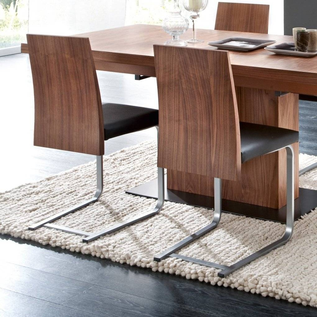 Vita/jeff/verve Dining Set Walnut Torero Black Four Dining Chairs For Walnut And Black Sideboard (#19 of 20)
