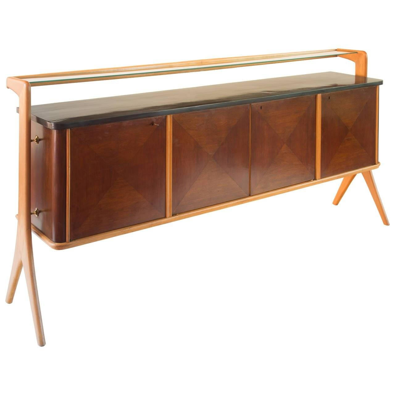 Vittorio Dassi Sideboard, Four Doors, 1940 For Sale At 1Stdibs With Regard To Sideboard Sale (#20 of 20)