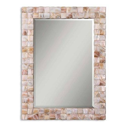 Vivian Mother Of Pearl Wall Mirror Uttermost Wall Mirror Mirrors With Mother Of Pearl Wall Mirrors (#28 of 30)