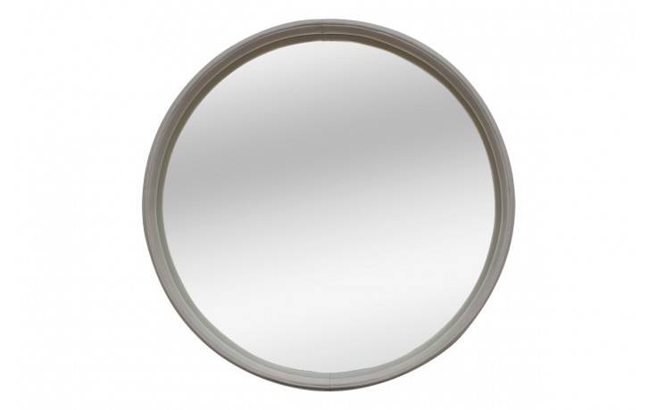 Viyet | Luxury Furniture Consignment – Accessories – Modern Round For Black Leather Framed Mirrors (#30 of 30)