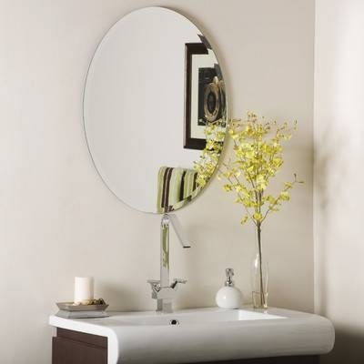 Wade Logan Duane Oval Bevel Frameless Wall Mirror & Reviews | Wayfair Throughout Frameless Wall Mirrors (#26 of 30)
