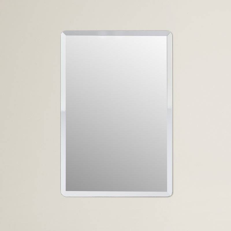 Wade Logan Kayden Frameless Wall Mirror & Reviews | Wayfair In Frameless Wall Mirrors (#28 of 30)