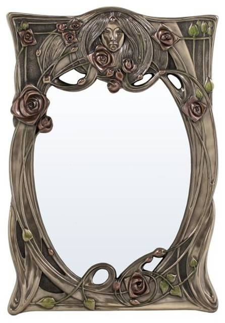 Wall Art Decor: Great Antique Art Nouveau Wall Mirror Items With Intended For Art Nouveau Wall Mirrors (#20 of 20)