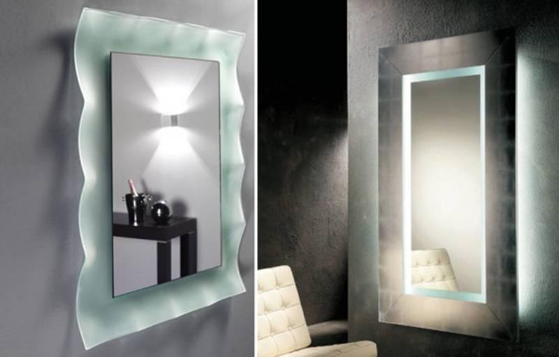 Wall Lighted Bathroom Mirror : Essential Lighted Bathroom Mirror In Wall Light Mirrors (#26 of 30)