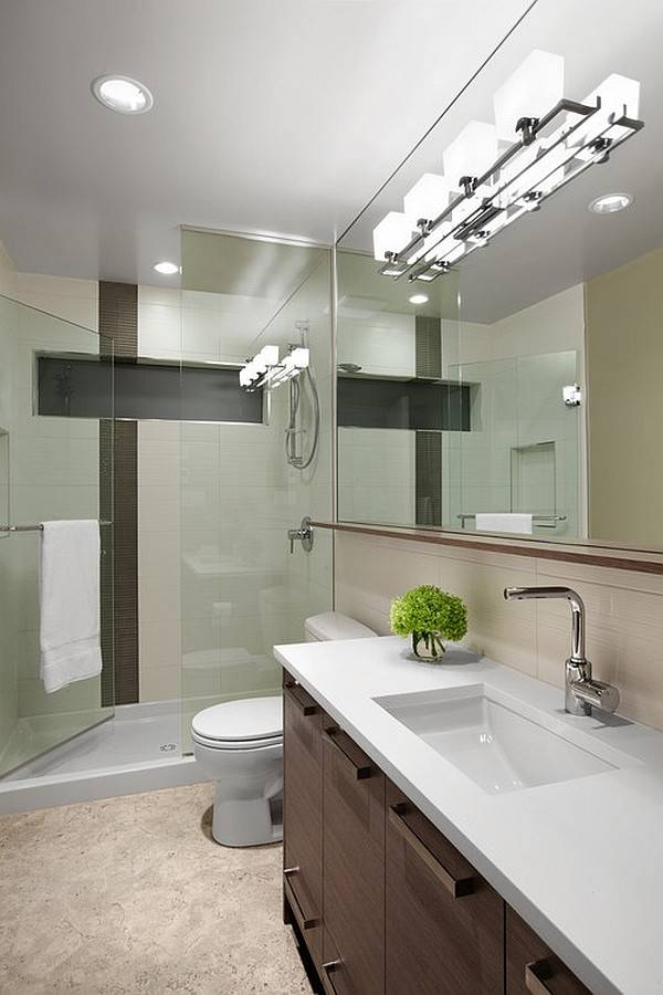 Wall Lights: Glamorous Ceiling Mounted Bathroom Light Fixtures Within Ceiling Light Mirrors (#15 of 15)
