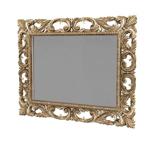 Wall Mirror 3D Fbx Inside Baroque Wall Mirrors (#18 of 20)