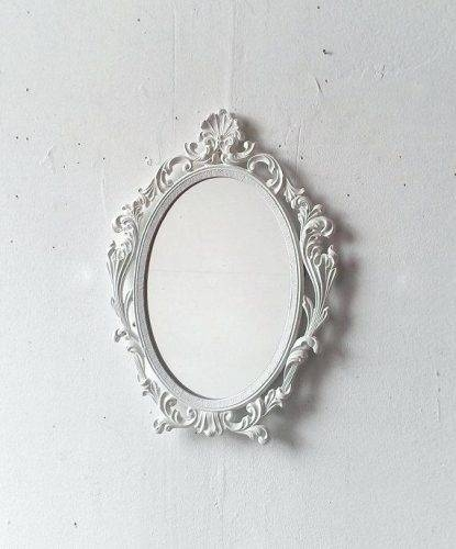 Wall Mirror ~ Antique White Oval Wall Mirror White Oval Shabby Throughout White Oval Wall Mirrors (#30 of 30)
