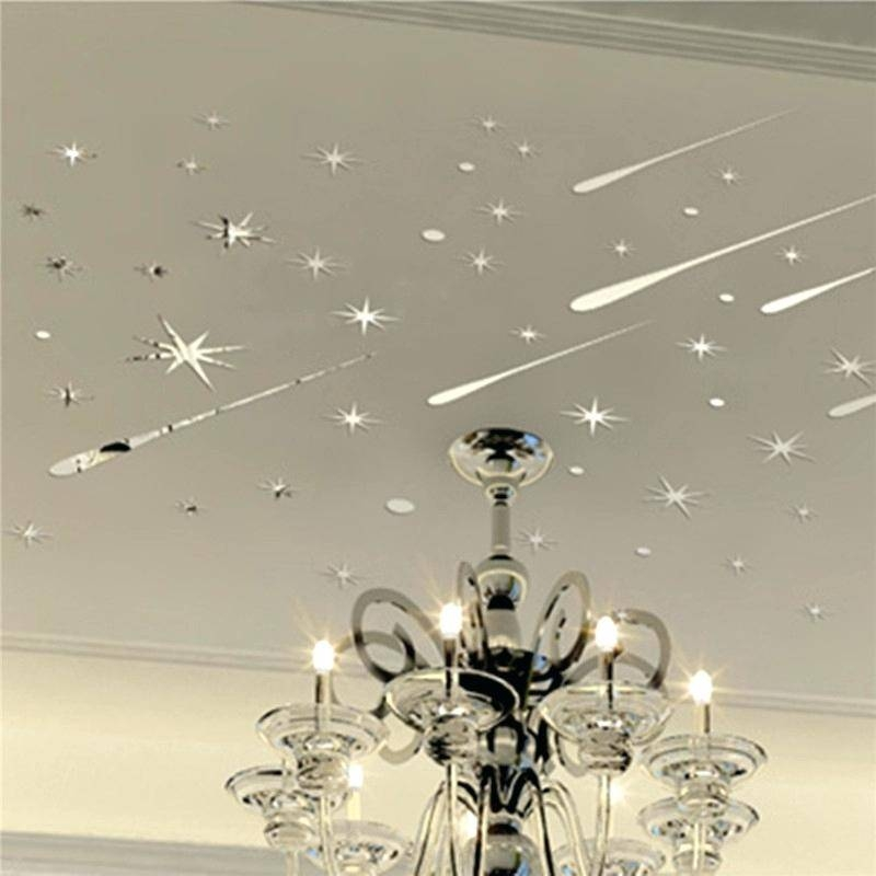 30 best ideas of unframed wall mirrors for Ceiling mural decal