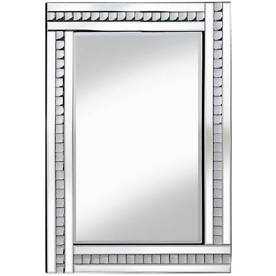 Wall Mirror Large In Silver With Acrylic Crystals In Wall Mirrors With Crystals (#20 of 20)
