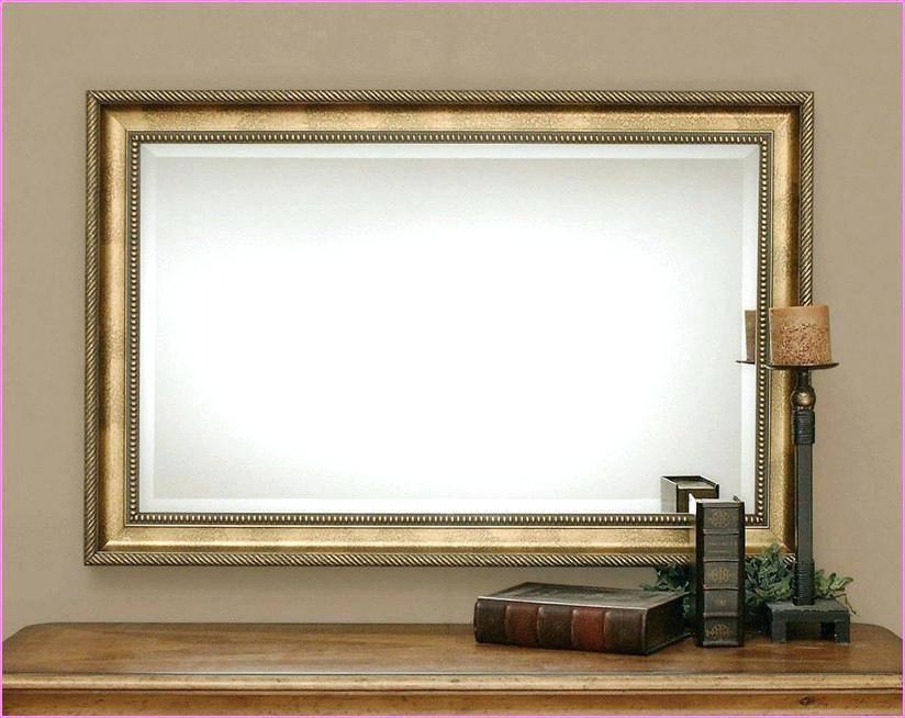 Wall Mirror ~ Oak Framed Wall Mirrors Large Oak Framed Wall Intended For Large Oak Framed Mirrors (#20 of 20)