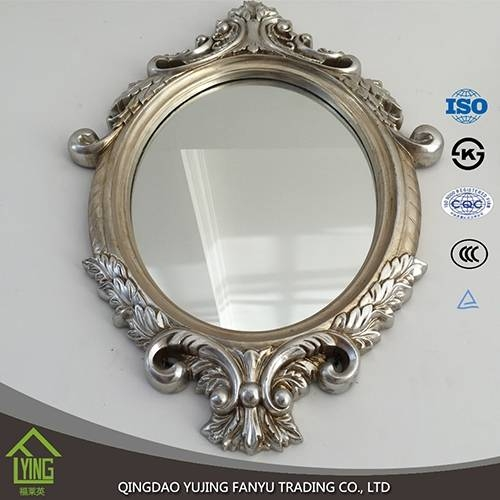 Wall Mirrors Wholesale Oval / Round Shape Wall Silver Mirror Pertaining To Oval Shaped Wall Mirrors (#15 of 15)