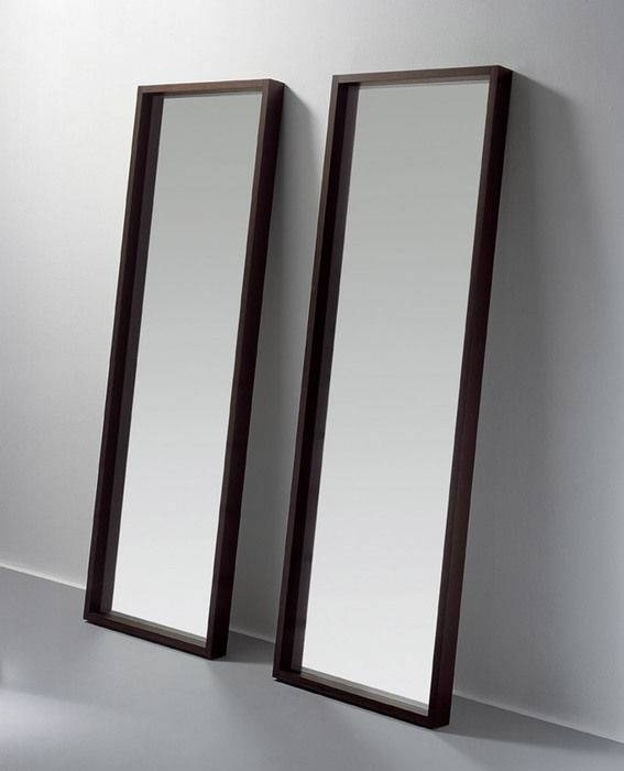 Wall Mounted Mirror / Floor Standing / Contemporary / Rectangular Within Free Standing Black Mirrors (#30 of 30)