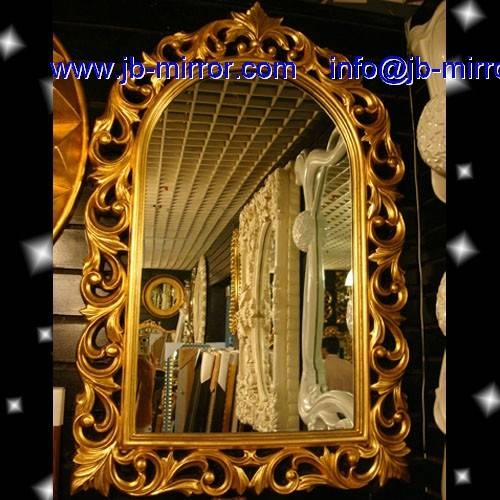 Wall Oval Gold Wooden And Wood Art Mirror Frame And Large In Big Gold Mirrors (#15 of 15)