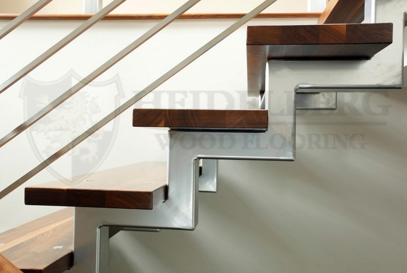 Walnut Grading Regarding Contemporary Stair Treads (#19 of 20)
