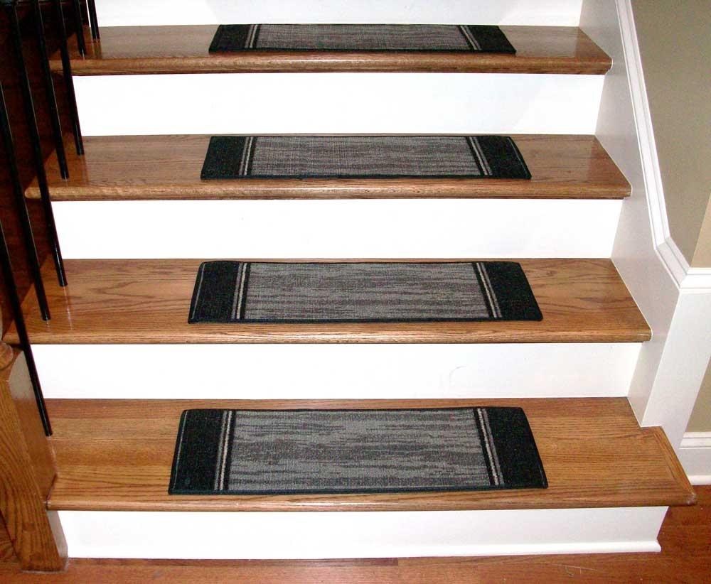 Popular Photo of Grey Carpet Stair Treads