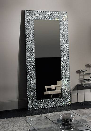 Waterford Interiors John Rocha Solas Floor Mirror Within Mirrors With Crystals (#30 of 30)