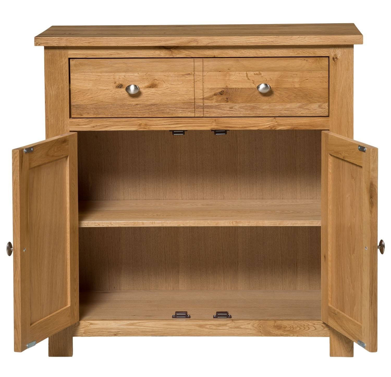 Waverly Oak Compact Sideboard 2 Doors 1 Drawer   Hallowood With Regard To Light Oak Sideboards (View 17 of 20)