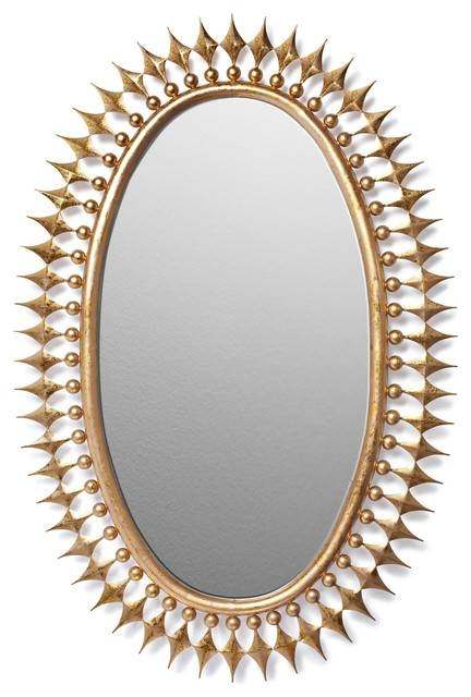 Wellington Mirror, Gold – Contemporary – Wall Mirrors – Pertaining To Gold Wall Mirrors (View 24 of 30)