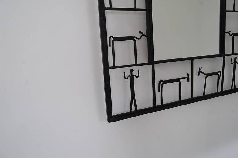 Whimsical Iron Framed Mirrorfrederick Weinberg (Pair Available With Regard To Iron Framed Mirrors (#19 of 20)