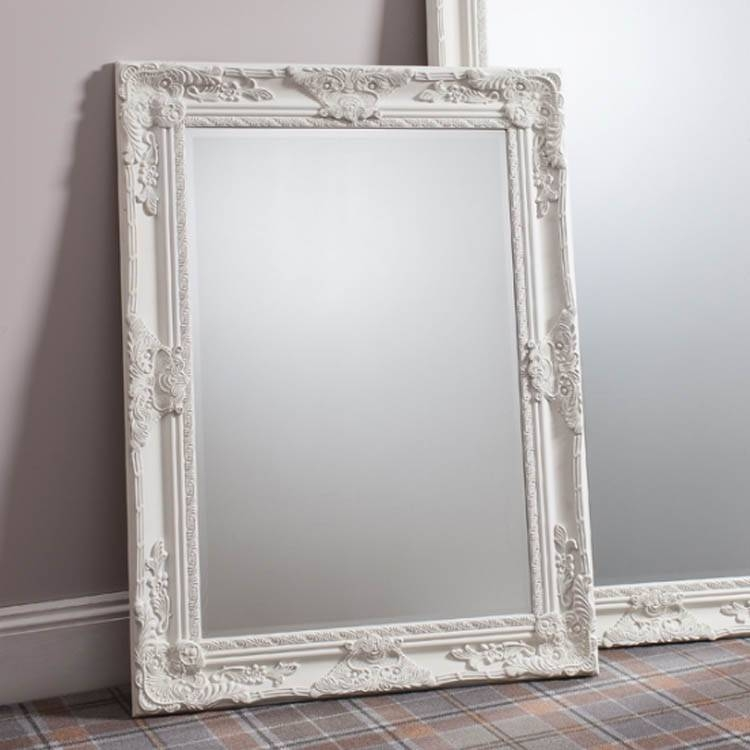 White And Cream Mirrors | Exclusive Mirrors Throughout Cream Ornate Mirrors (#20 of 20)