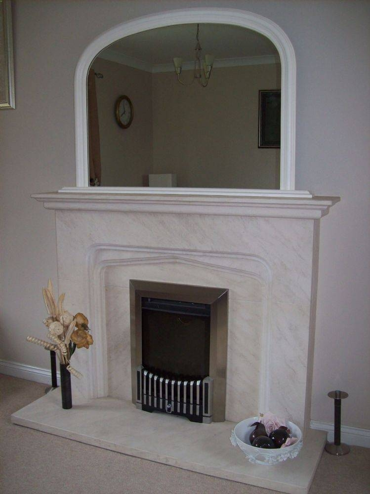 White Arched Overmantle Mirror Within White Overmantle Mirrors (#24 of 30)