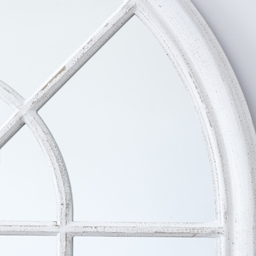 White Arched Window Wall Mirror | Mirrors In White Arch Mirrors (#28 of 30)
