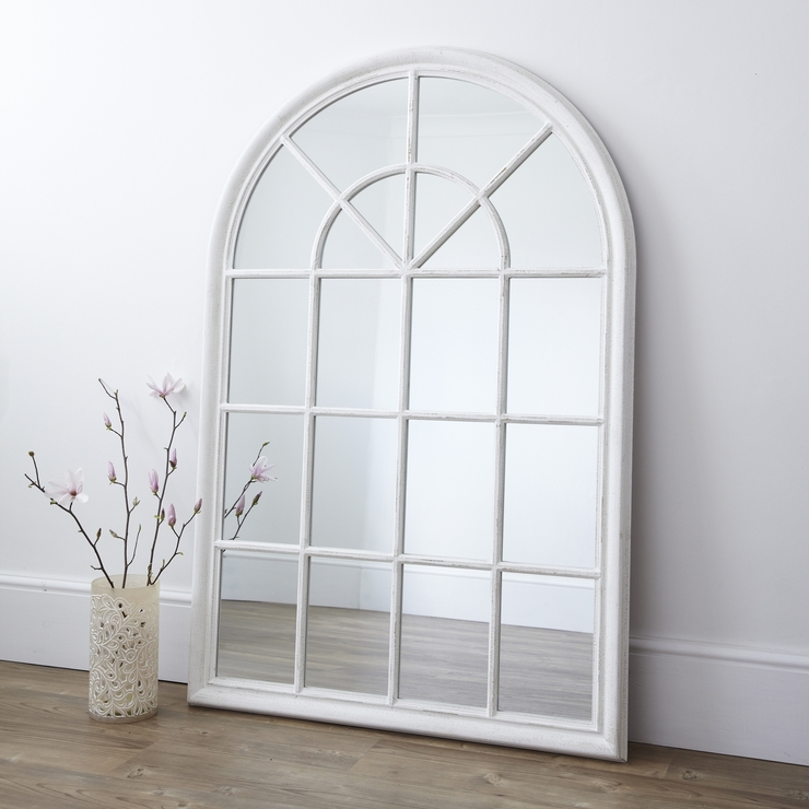 White Arched Window Wall Mirror | Mirrors With Regard To Window Arch Mirrors (View 20 of 20)