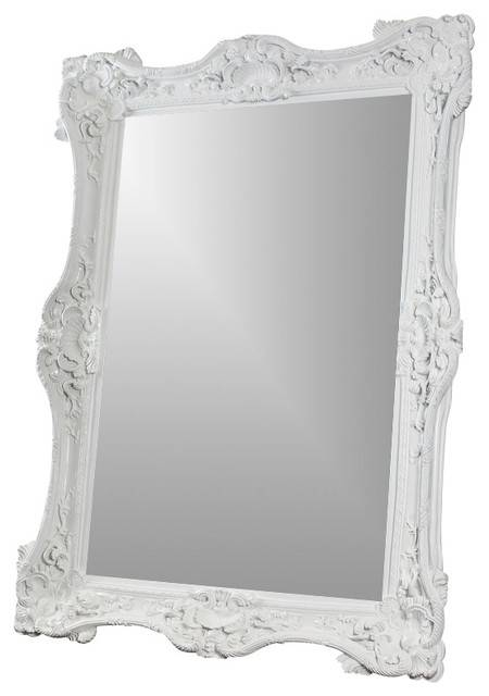 White Baroque 7' Mirror – Victorian – Wall Mirrors  Diva In Baroque Wall Mirrors (#19 of 20)