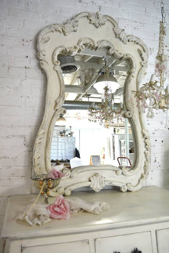 White Distressed Shabby Chic Mirror | Best Home Magazine Gallery In Cream Shabby Chic Mirrors (#30 of 30)