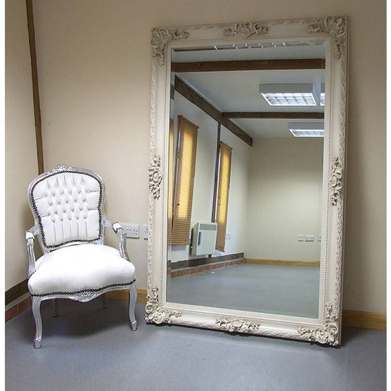 White Distressed Shabby Chic Mirror | Best Home Magazine Gallery With Shabby Chic Large Wall Mirrors (#20 of 20)