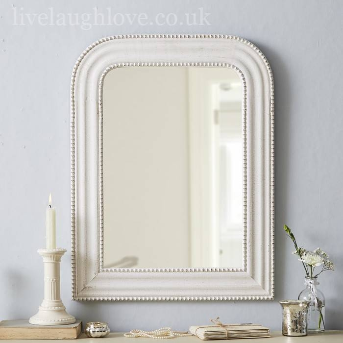 White Distressed Shabby Chic Mirror | Best Home Magazine Gallery With White Shabby Chic Mirrors (View 13 of 30)