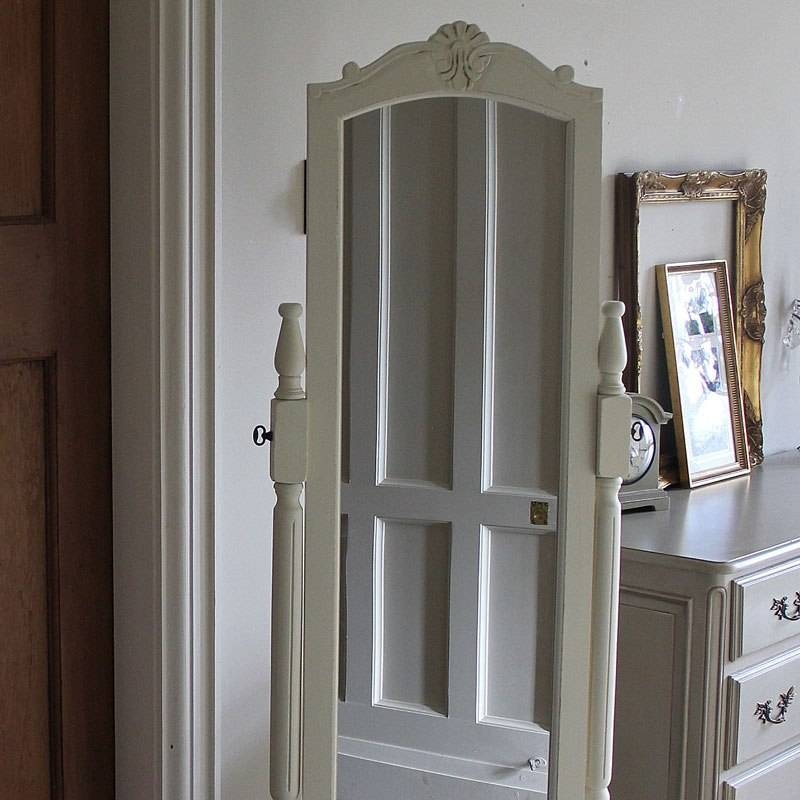 White Full Lengh Cheval Mirror – Melody Maison® Intended For Cream Cheval Mirrors (#14 of 15)