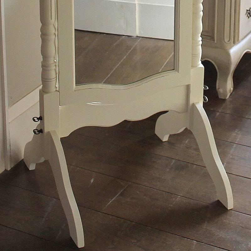 White Full Lengh Cheval Mirror – Melody Maison® Pertaining To Cream Cheval Mirrors (#15 of 15)