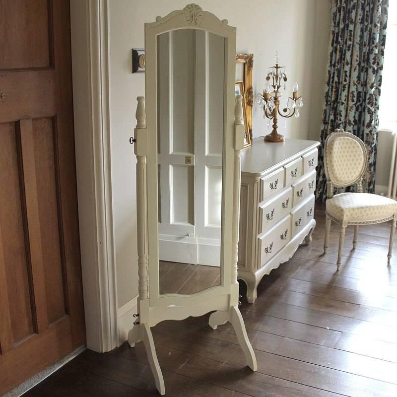 White Full Lengh Cheval Mirror – Melody Maison® Throughout Full Length Cheval Mirrors (View 20 of 20)