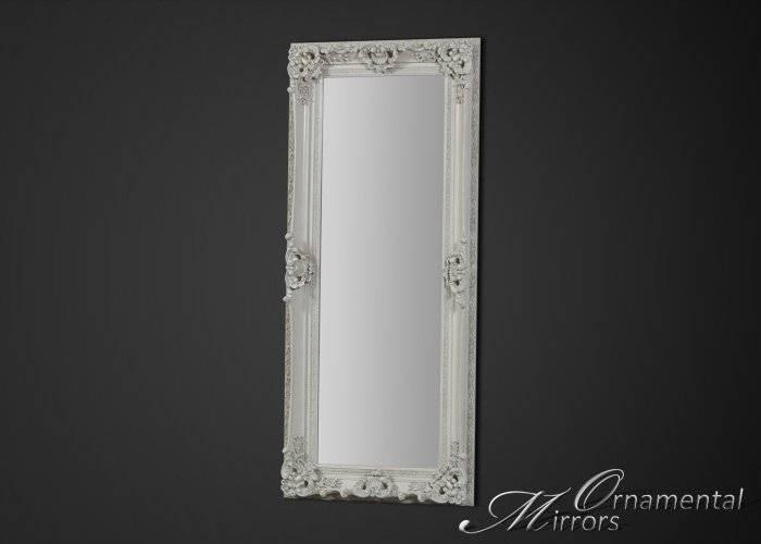 White Full Length Mirror Within Ornate Full Length Mirrors (#20 of 20)