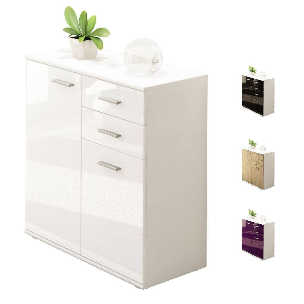 White Gloss Sideboards | Cupboards & Shelving Units | Ebay For White Gloss Sideboards (#20 of 20)