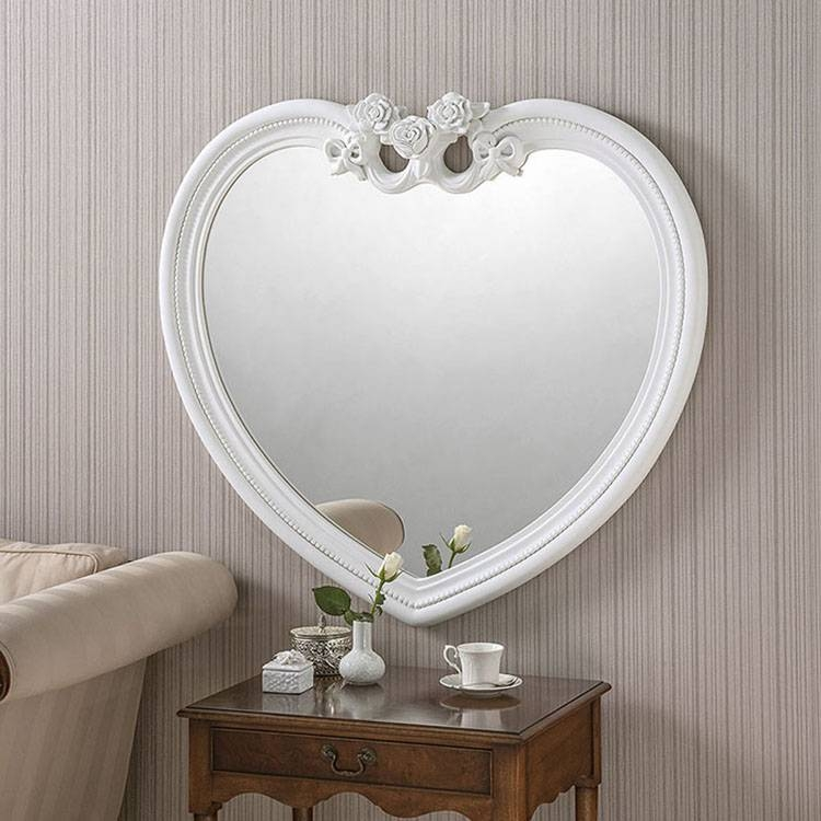 White Heart Shaped Mirror – 97 X 91Cm White Heart Shaped Mirror Within Large Heart Mirrors (View 15 of 15)