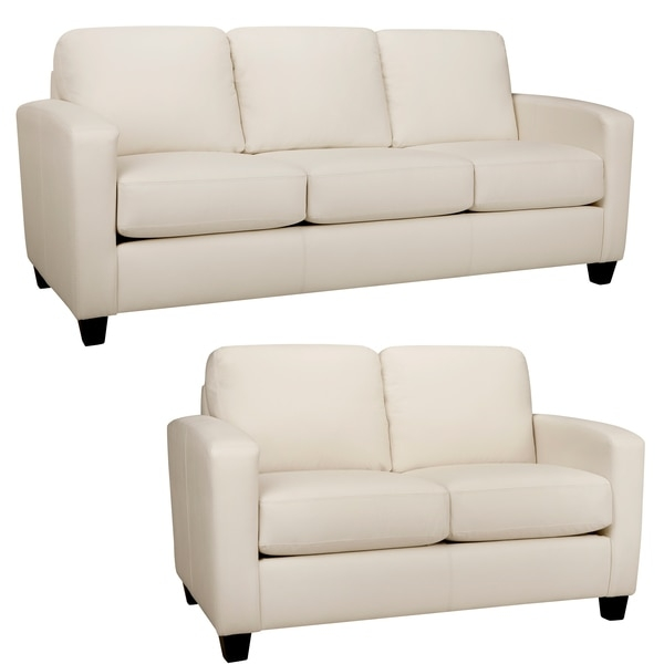 White Italian Leather Sofa Black And White Italian Leather Sofas For Off White Leather Sofa And Loveseat (#13 of 15)